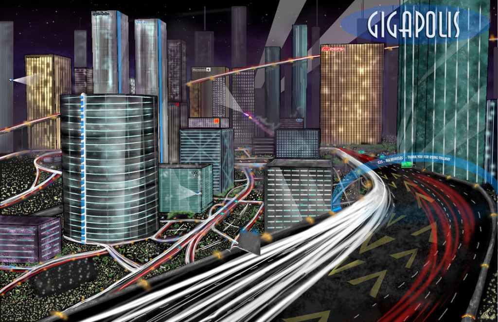 Gigapolis_Cityscape_by_Majoh